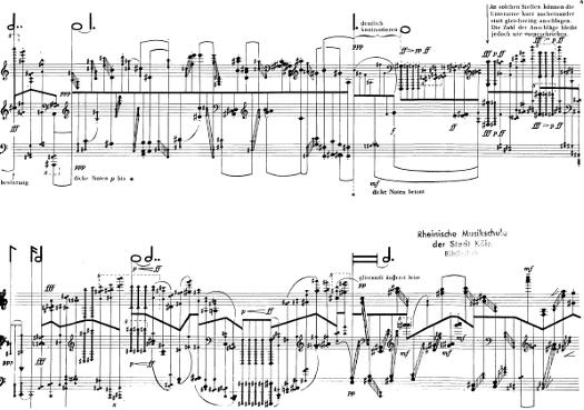 Stockhausen - Klavierstuck X. Podobno.