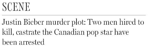 justin bieber murder plot