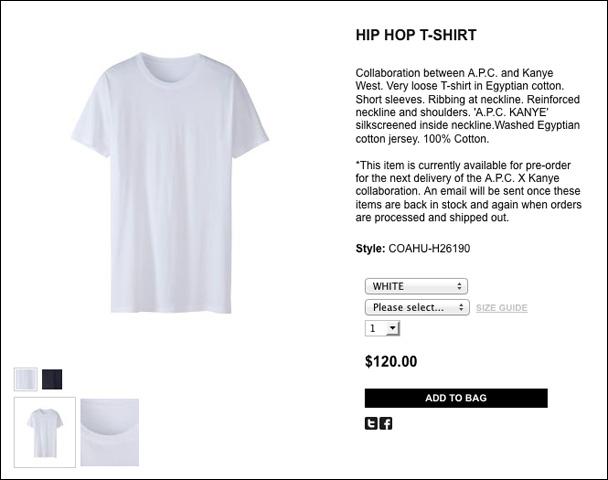 kanye apc white shirt