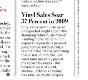 """Winyl rosnie (wyciete z """"Rolling Stone"""", nr 10/12/2009)"""
