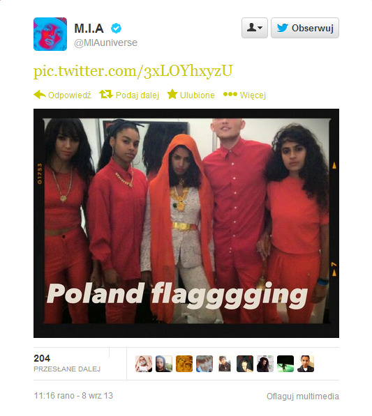 m.i.a. poland flagging